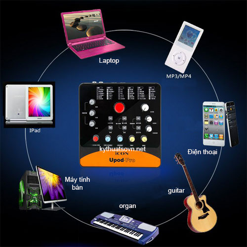 Sound card thu âm iocn upod pro