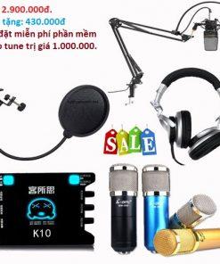 Trọn bộ thu âm ami bm900+k10