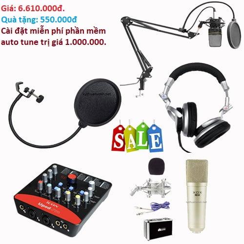 Trọn bộ thu âm giá rẻ - combo 6